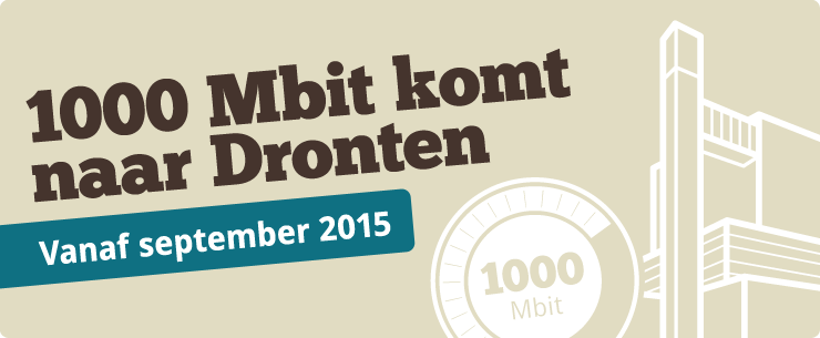 1000 Mbit komt naar Dronten