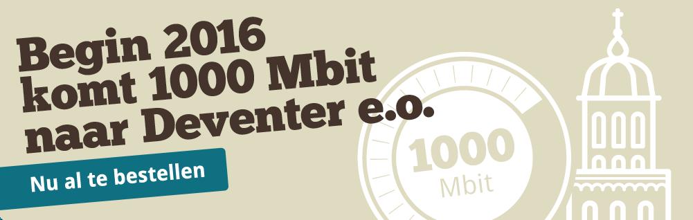 1000 Mbit komt naar Deventer